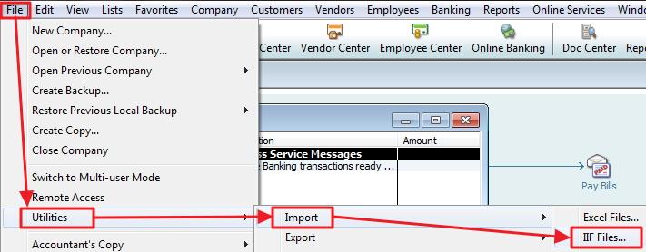 QuickBooks import utility